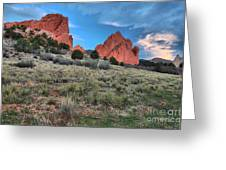 Red Rock Sunrise Greeting Card