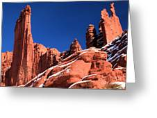 Red Rock Towers Greeting Card
