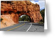 Red Rock Tunnel Greeting Card
