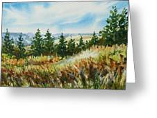 Red Rock View Road Greeting Card