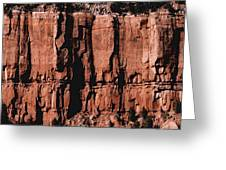 Red Rock Wall Greeting Card