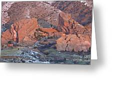 Red Rocks Amphitheater On Fire Greeting Card