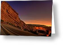 Red Rocks Amphitheatre At Night Greeting Card