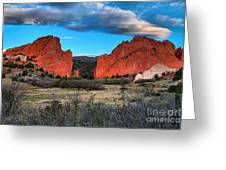 Red Rocks At Sunrise Greeting Card