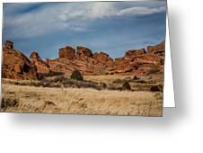 Red Rocks Geometrics Greeting Card