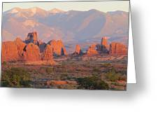 Red Rocks In Arches National Park Greeting Card