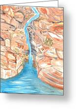 Red Rocks Of Water Greeting Card
