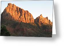 Red Rocks Of Zion Park Greeting Card