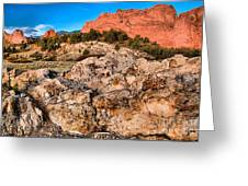 Red Rocks Over White Greeting Card
