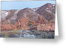 Red Rocks Panorama 1 Greeting Card