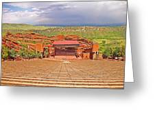 Red Rocks Park Amphitheater - Centered View Greeting Card