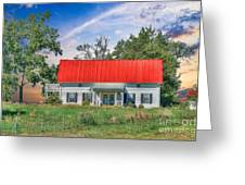 Red Roof Charm Greeting Card