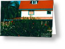 Red Roof Home Greeting Card