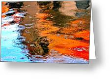 Red Roof Tile Reflection 29412 Greeting Card