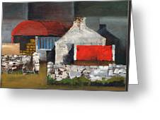 Red Roofs In Clare Greeting Card