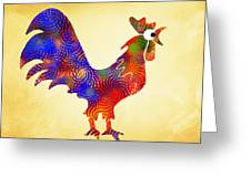Red Rooster Art Greeting Card