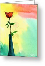 Red Rose 1 Greeting Card by Anil Nene