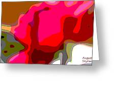 Red Rose Abstract Greeting Card