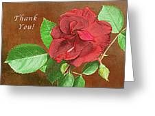 Red Rose Autumn Texture Thank-you  Greeting Card