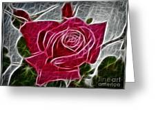 Red Rose Expressive Brushstrokes Greeting Card