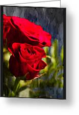 Red Rose Floral Greeting Card