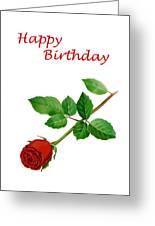 Red Rose Happy Birthday  Greeting Card