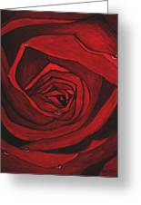 Red Rose  Greeting Card by Kat Poon