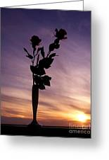 Red Roses At Sunset Greeting Card
