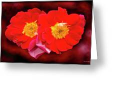 Red Roses Heart Greeting Card