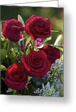 Red Roses The Language Of Love Greeting Card