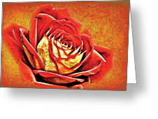 Red Rosey Greeting Card