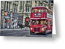 Red Routemaster Greeting Card