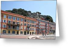 Red Row Houses In Nice Greeting Card