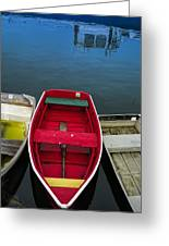 Red Rowboat Greeting Card