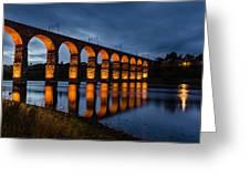 Red Royal Border Bridge Greeting Card