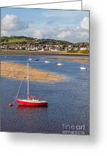 Red Sail Boat Greeting Card