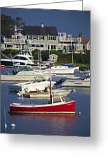 Red Sailboat Greeting Card