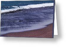 Red Sand Beach Abstract Greeting Card