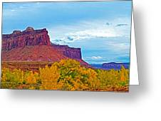 Red Sandstone Formations Going Into Needles District Of Canyonlands National Park-utah Greeting Card