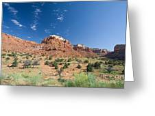 Red Sandstone Mesa  Greeting Card
