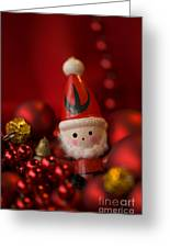 Red Santa Greeting Card