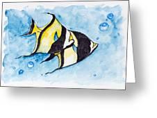 Red Sea Banner Fish  Greeting Card