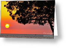 Red Sea Sunset Greeting Card by George Paris