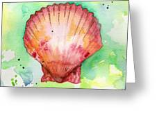 Red Shell Greeting Card