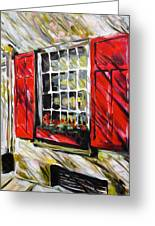 Red Shutters Greeting Card