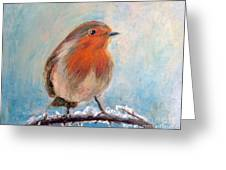 Red Singer Greeting Card