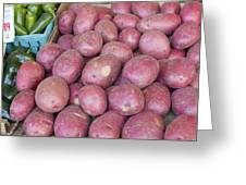 Red Skin Potatoes Stall Display Greeting Card by JPLDesigns