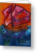 Red Sky At Night Sailors Delight Greeting Card