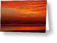 Red Sky Dawn Greeting Card