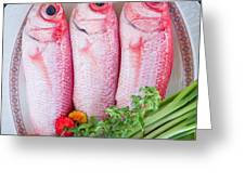 Red Snappers Greeting Card